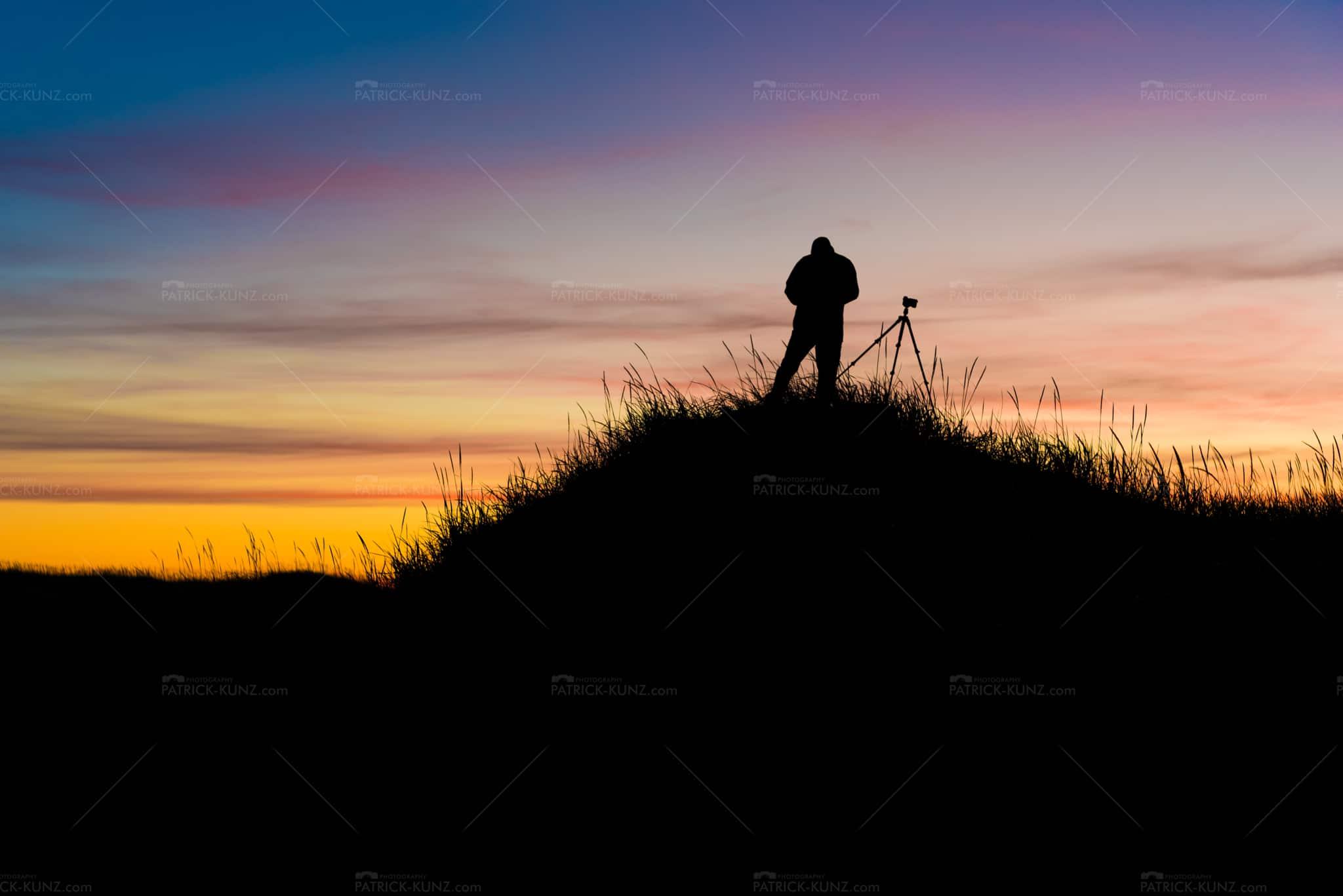 Iceland silhouette sunset