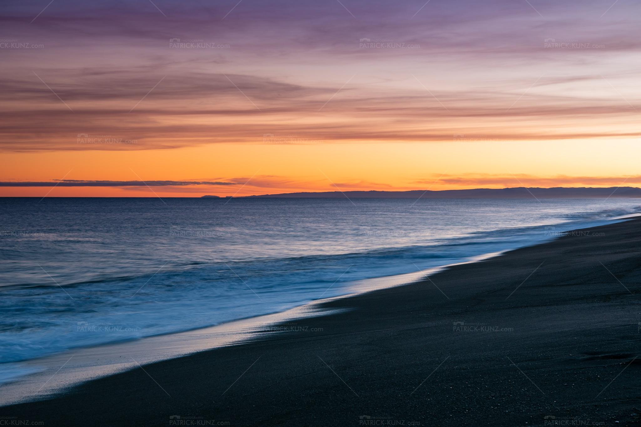 Iceland sea sunset