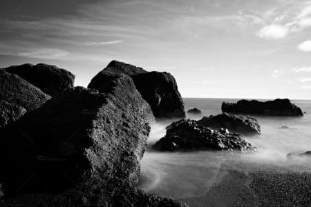 Island Black Sand Beach V