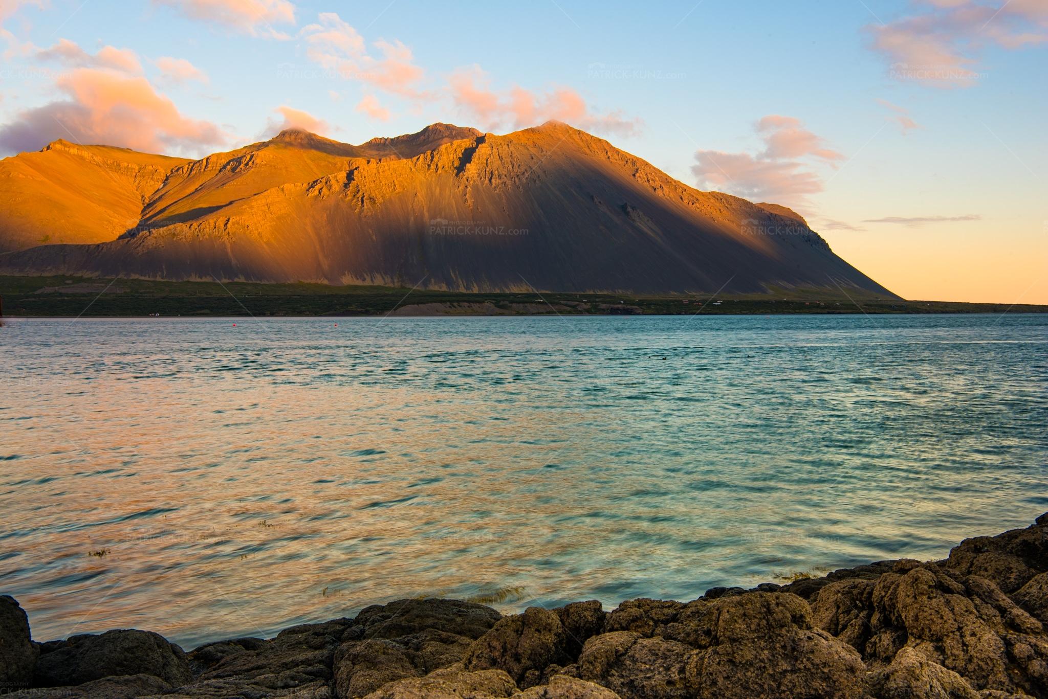 Island Sunset Borgarbyggð Mountain